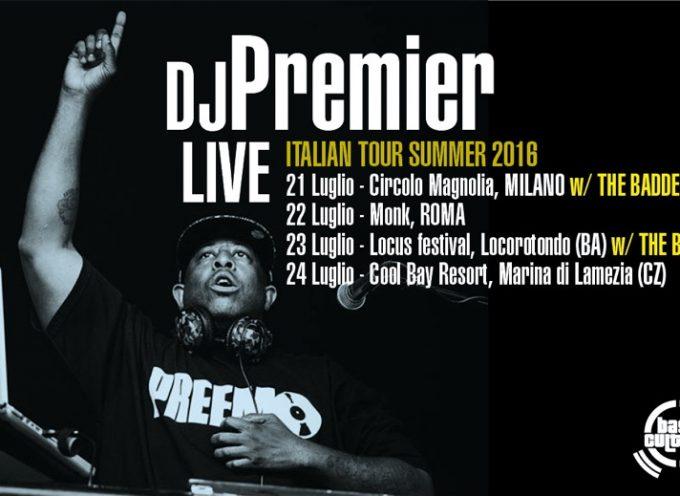 Dj Premier in tour a Luglio in Italia con quatto date tra live e dj set