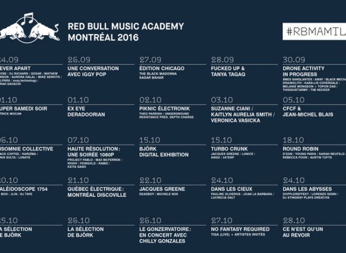 RED BULL MUSIC ACADEMY Montreal 2016