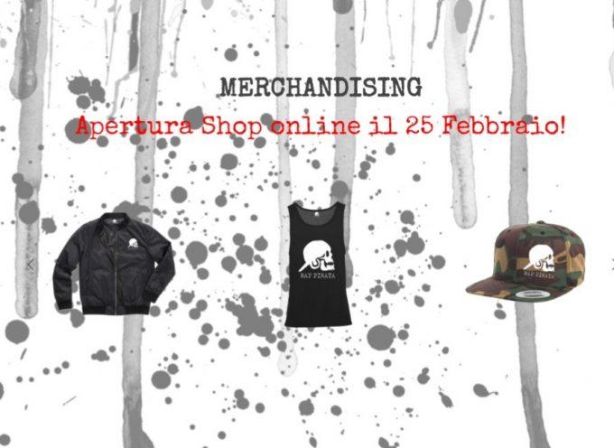 E' ufficiale, lo shop  online per acquistare il merch di Rap Pirata sarà attivo da lunedì 25 febbraio