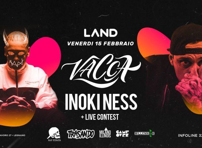 Inoki Ness giudice del contest organizzato da Land, più live finale con Vacca