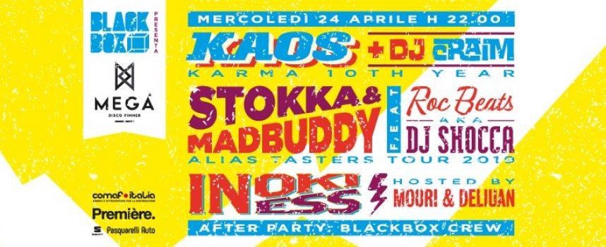 Black box presenta Inoki Ness – Kaos & Dj Craim – Stokka & Madbuddy feat Roc Beats