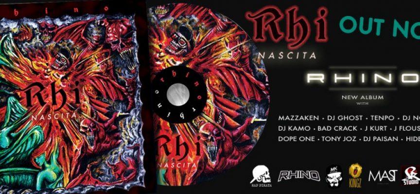 """E' fuori l'ultimo album del rapper pugliese Rhino """"Rhi Nascita"""""""