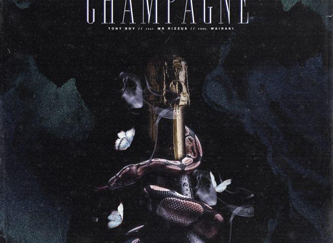"""""""Champagne"""": il 2020 Tony Boy lo inaugura in collaborazione con MR Rizzus"""
