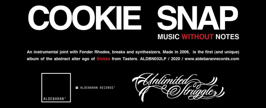 """COOKIE SNAP alias STOKKA: Aldebaran Records pubblica il vinile di """"MUSIC WITHOUT NOTES"""", l'album strumentale del noto producer"""