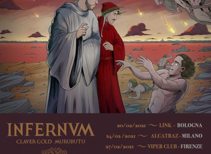 L'INFERNVM Tour di Claver Gold & Murubutu è rinviato al 2021, l'anno dantesco!
